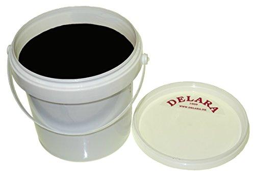 DELARA Hochwertiger Pflegebalsam für Leder mit Jojoba, Bienenwachs und Zitronen-Duft, schützt Glattleder wirksam vor Austrocknung und Oxidation und riecht gut, Farbe: Schwarz, 500 ml - Made in Germany