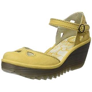 Fly London Women's YUNA Closed Toe Heels, Yellow (Bumblebee 145), 5 (38 EU)
