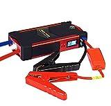 Awsgtdrtg Auto-Erkennung Light Car Jump Starter 600A Spitzenstrom Mit Smart Jump Führt 18000Mah Akku-Pack Mit, Standard-USB-Port Und LED-Taschenlampe