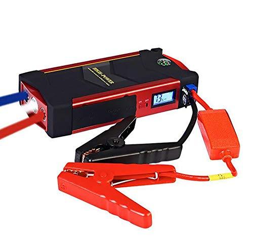 Voiture De Détection De Voiture Lumière De Démarrage 600A De Crête De Pointe avec Smart Jump Leads 18000Mah Battery Pack avec, Port USB Standard Et Lampe De Poche LED