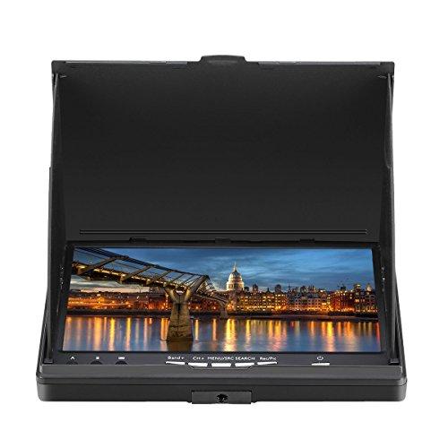 Eachine LCD5802D FPV Monitor mit DVR Dual Empfänge 5.8G 40CH 7 Inch eingebaute Batterie - 2
