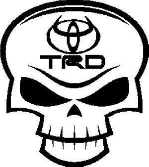 SUPERSTICKI Toyota TRD Skull Decal, Decal Sticker Vinyl Car Home Truck Window Laptop ca. 20cm Aufkleber Autoaufkleber Wandtattoo - Toyota Trd Decals