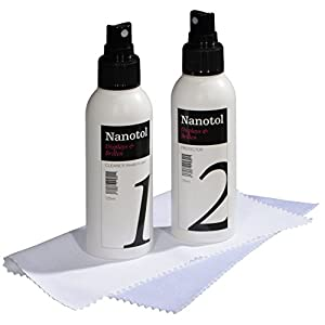 Nanotol Displayschutz flüssig – Handy Display Schutz Set mit Display Reiniger Spray, Nanoversiegelung Display und Display Reinigungstuch Microfaser