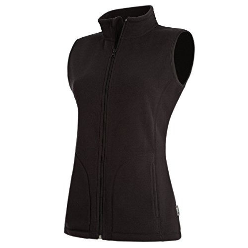 Active By Stedman Damen Fleece-Weste (XL) (Schwarz) XL,Schwarz