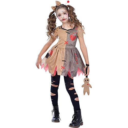 Amscan Kinder Halloween Cute Voodoo Puppe Mädchen Kostüm Medium (6-8yrs)