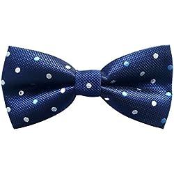 AXY Pajarita para niños y jóvenes, ya anudada, para la confirmación, en diferentes colores, KFLI2 azul Bunt Nr.12