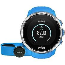 Suunto Spartan Sport (HR) - SS022652000 - Reloj GPS para Atletas Multideporte + Cinturón Frecuencia Cardiaca - Pantalla táctil de Color - Azul - Talla única