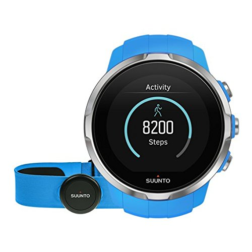 Suunto, Spartan Sport HR, GPS Watch for Multisport Athletes, Unisex, 10 Hrs. Battery Life, Water Proof, Heart Rate Monitor + Chest Strap, Colour Touch Screen, Blue, SS022652000