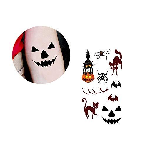 (Rosennie Halloween Horror Blutflecken Mode Narben Tattoo Aufkleber Wunden Realistische Blutflecken Horror Falsch Scab Blut Spezial Kostüm Make-Up für Halloween Party Dekorationen (H))