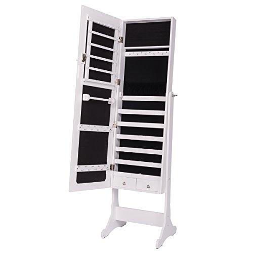 Moderne Schmuck-schrank Schwarze (DXP Schmuckschrank Spiegelschrank Standspiegel Weiß Spiegel Deko 120*36*9cm Abschließbar JCYJ06)