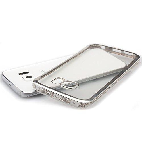 Apple iPhone SE / 5S / 5 | iCues Aurora Chrome TPU Strass boîtier en or | Protecteur feuille transparente Temps clair silicone Gel strass Glitter Glitter luxe Bling dames femmes filles cas Chrome peau doré