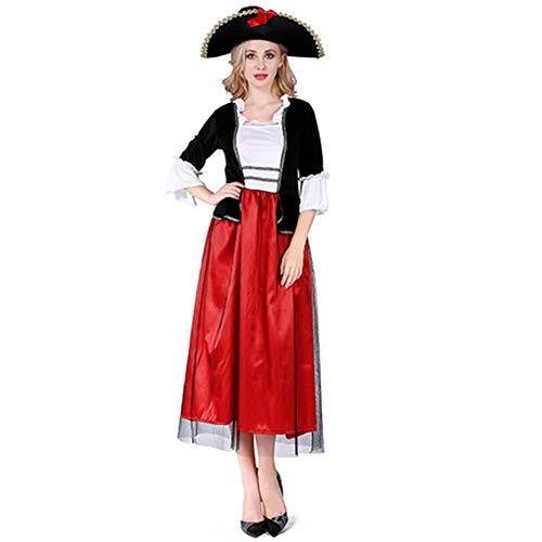Piraten Holloween Kostüm - Tik Halloween Kostüm/Geburtstagsparty Cosplay Outfit - Gruseliges Piraten Halloween Kostüm für Herren,4