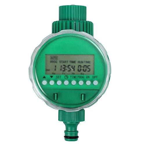 Boruit LCD Pantalla Impermeable Digital Programador Electrónico Automático Temporizador Controlador de Riego para Jadín