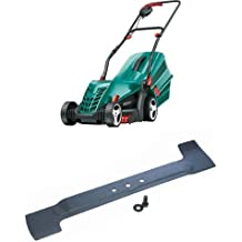 Bosch Rotak 34 R Corded Rotary Lawnmower (34 cm Cutting Width) with replacement Blade