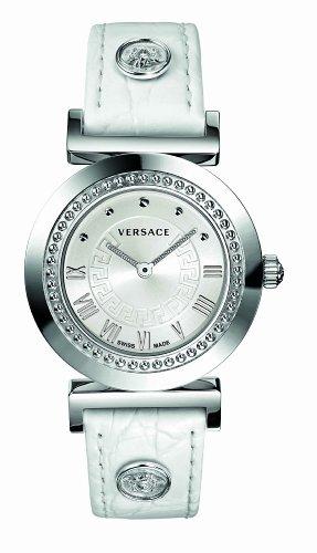 Versace - P5Q99D001 S001 - Montre Mixte - Quartz Analogique - Bracelet Cuir Blanc
