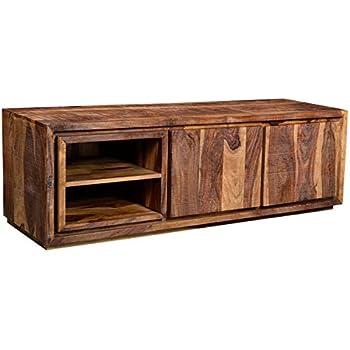 Möbel Ideal Tv Lowboard Sheesham Massivholz Fernsehschrank Braun