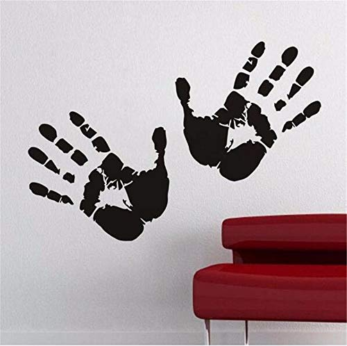 Juabc Kunst Zwei Hand Wandaufkleber Handprint Tapete Für Kinderzimmer Halloween Fenster Aufkleber Diy Wohnkultur