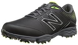 New Balance Men's Nbg2004 Golf Shoe, Blackgreen, 12 4e Us