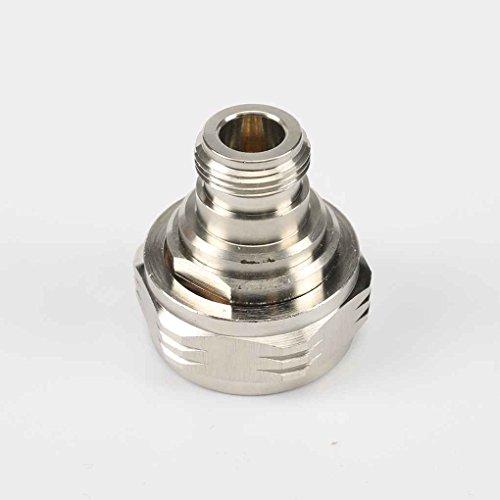 Demino 1pcs L29 16.07 Din N-Buchse an Stecker RF-Silber-Farbe Kupfer Adapter Durable Low-Loss-Anschluss - Low Loss-anschluss