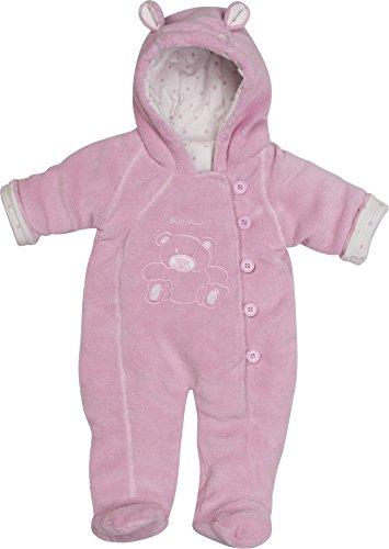 Playshoes Unisex - Baby Schneeanzug Fleece Overall/Fleeceanzug, Dick Wattiert, Oeko Tex Standard 100, Gr. 74, Rosa (Rose 14)