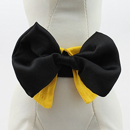 Art Und Weise Liebenswert Haustier Hund Katze Krawatte Kragen – Gelb, XL - 2