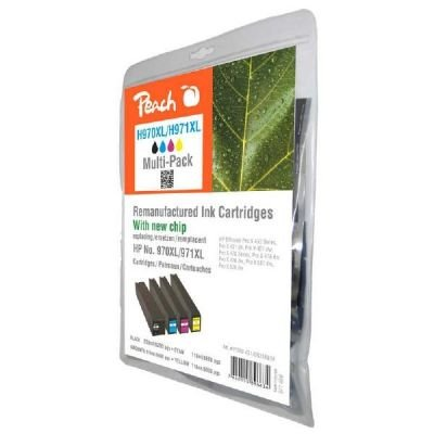 Preisvergleich Produktbild Peach Spar Pack Tintenpatronen kompatibel zu HP No. 970XL, No. 971XL