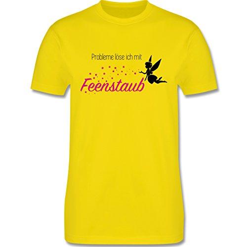 Statement Shirts - Probleme löse ich mit Feenstaub - Herren Premium T-Shirt Lemon Gelb