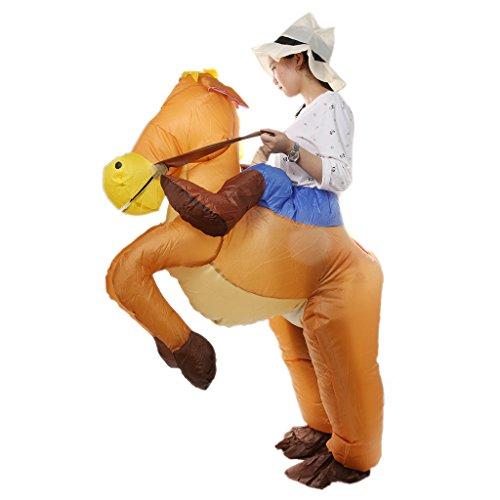 MagiDeal Aufblasbar Blowup Pferd Reiten Cowboy Kostüm Ganzanzug Suit Outfit ()