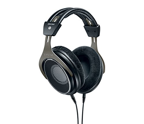 Shure SRH1840, offener Kopfhörer / Over-ear, schwarz/silber, High-End, geräuschunterdrückend, Kabel austauschbar, Velourpolster, natürlicher Klang, erweiterte Höhen, akkurater Bass, gematchte Wandler - 5