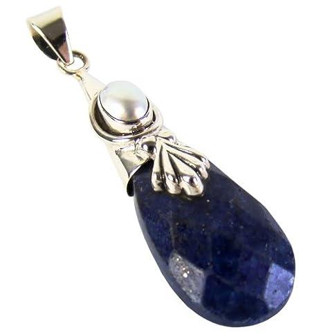 Unique pendentif pour femme lapis lazuli argent 925 qualité par