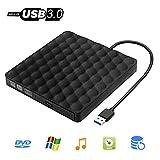 Externes DVD Laufwerk Inwee USB 3.0 DVD-RW DVD CD Brenner Tragbar Laufwerk, Ultra Slim kompatibel für Windows 7/8/10 / Vista/XP/Mac OS Linux