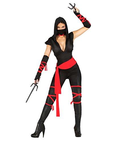 Action Girl Ninja Kostüm für Damen XS-S (Ninja Kostüme Damen)