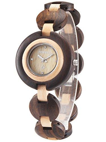 alienwork-montre-quartz-bois-massif-naturel-quartz-handmade-bois-debene-jaune-noir-um010a-01
