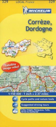 Michelin Map France: Corrze, Dordogne