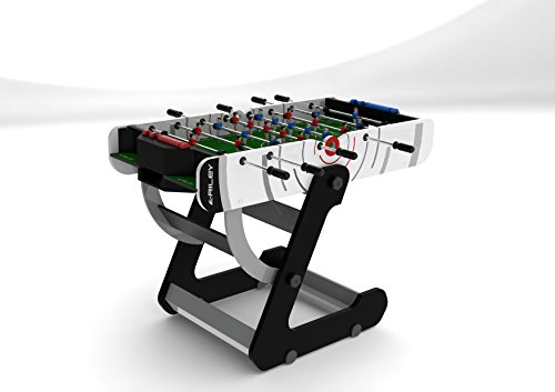 Riley Men's VR-90 4' Folding Football Table, White, 4 ft