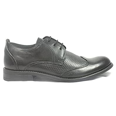 Lotus Black Leather Lace-Up Mens Shoe 8