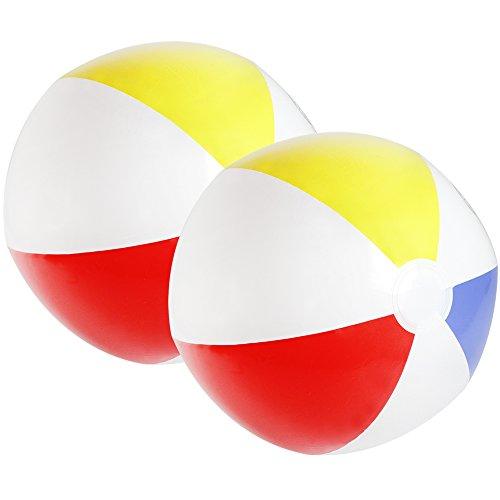 ball, Beachball in fruchtig-frischen Farben, Ø 32 cm (02 Stück - bunt) (Rote Und Weiße Beach-ball)