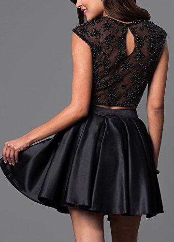 Bridal_Mall - Robe - Trapèze - Sans Manche - Femme noir Schwarz 34 Schwarz