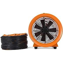 SucceBuy 220V Ventilateur Industriel Portable Axial de Diamètre 300mm Extracteur d'Air Electrique Souffleur Commercial Conduit en PVC de 10m(12″ avec conduit)