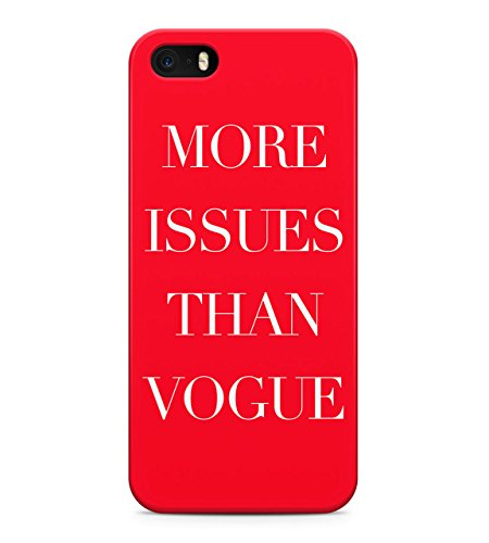Red More Issues Than Vogue Hard Plastic Snap On Back Case Cover For iPhone 5 / 5s Custodia