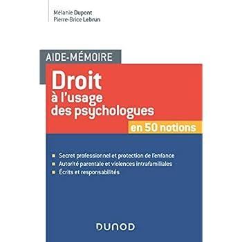 Aide-mémoire - Droit à l'usage des psychologues