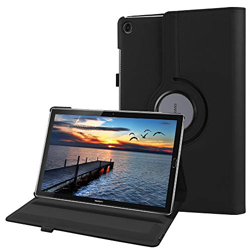Fintie Huawei Mediapad M5 10.8 / M5 10.8 Pro Hülle - Schlank 360 Grad Rotierend Stand Schutzhülle mit Auto Schlaf/Wach Funktion für 10.8 Zoll Huawei MediaPad M5 2018 Modell Tablet PC, Schwarz