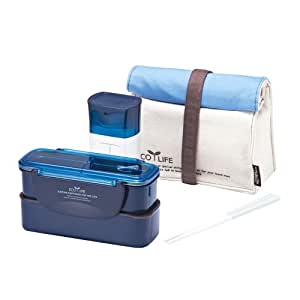 Lock & Lock Brotzeitbox Slim Lunch Box Bento w/Bottle Set - HPL740B1, Blue