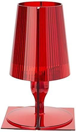 Kartell lampada da tavolo take rosso illuminazione - Amazon lampade da tavolo ...