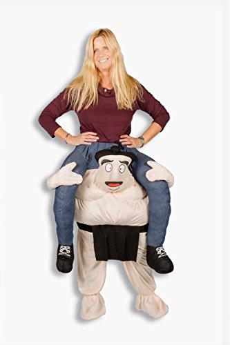 Carry me Kostüm Sumo Ringer Karneval Junggesellenabschied Huckepack ()