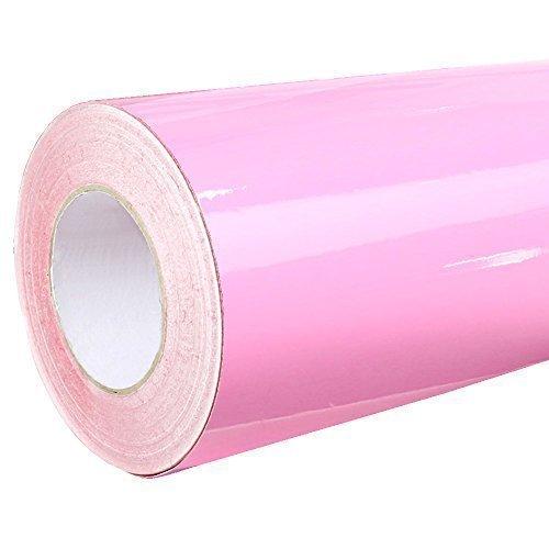 olie - Hell Rosa Glanz Klebefolie - 5m x 63cm - Plotterfolie- Folie selbstklebend - auch als Moebelfolie - Klebefolie (Rosa Folie)