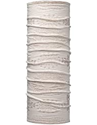 SET - BUFF® WOOL Patterned & Dyed Stripes Paño tubular + UP® Ultrapower Paño tubular   Lana merino teñido   Calentador de cuello   Bufanda   Pañuelo en la cabeza   Pañuelo para el cuello   Paño Multi, Buff Design:472. MAHALIA SNOW - 115396.015.10.00