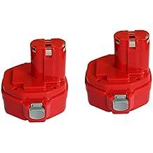 Eagglew 2X 14.4V 3.0Ah Batería de Repuesto para Makita PA14 194172-2 1420 1422 Ni-MH