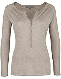 Blaumax - Pull - Uni - Manches Longues - Femme Gris Taupe Large
