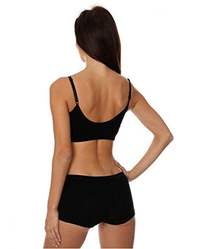 Brubeck Perfect Fit BRA BH (Baumwolle Smooth Skin Sport-BH nahtlos Unterwäsche) Black / A